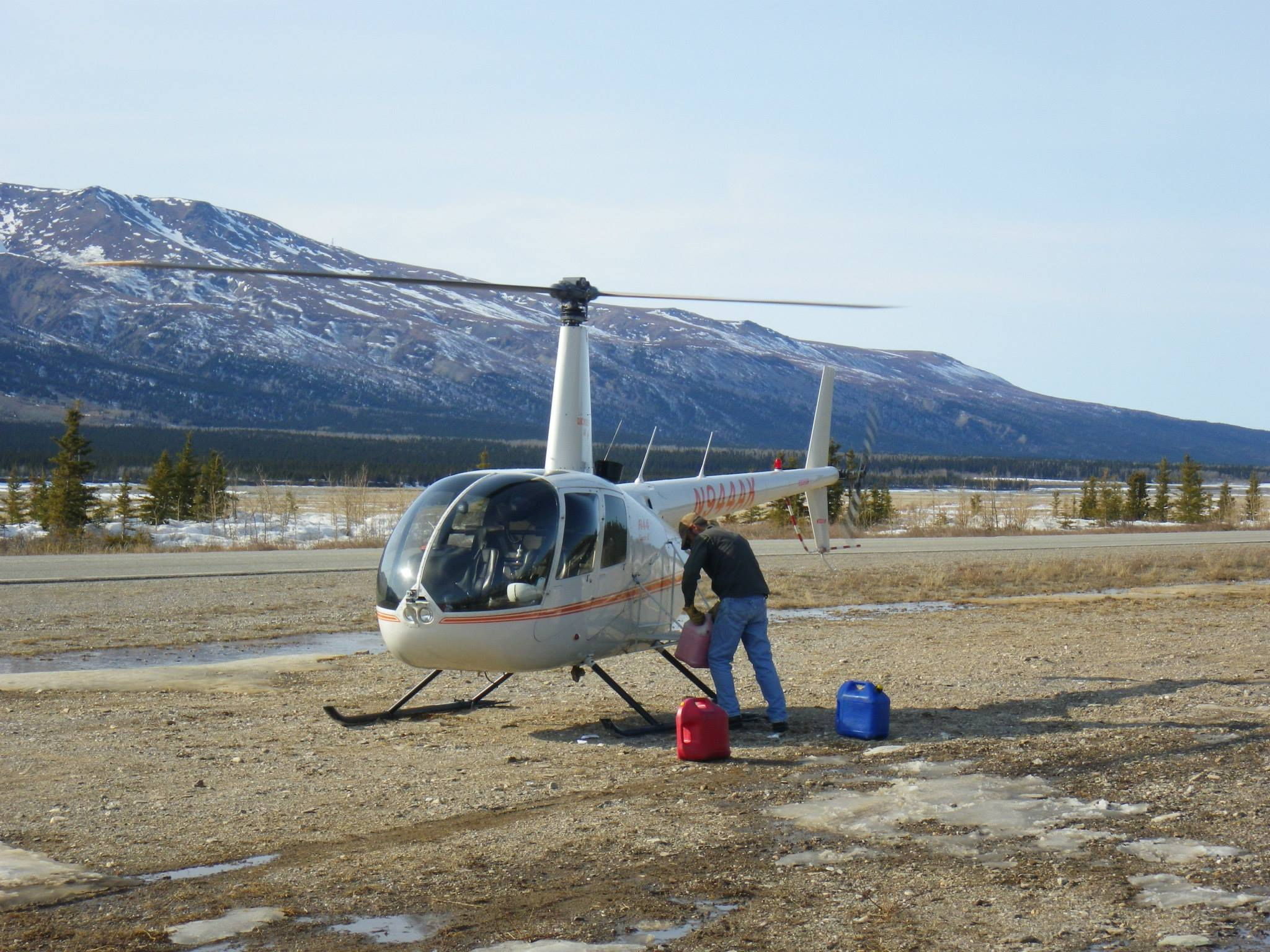 Sweet little helicopter to fly us up to Jarvis Glacier