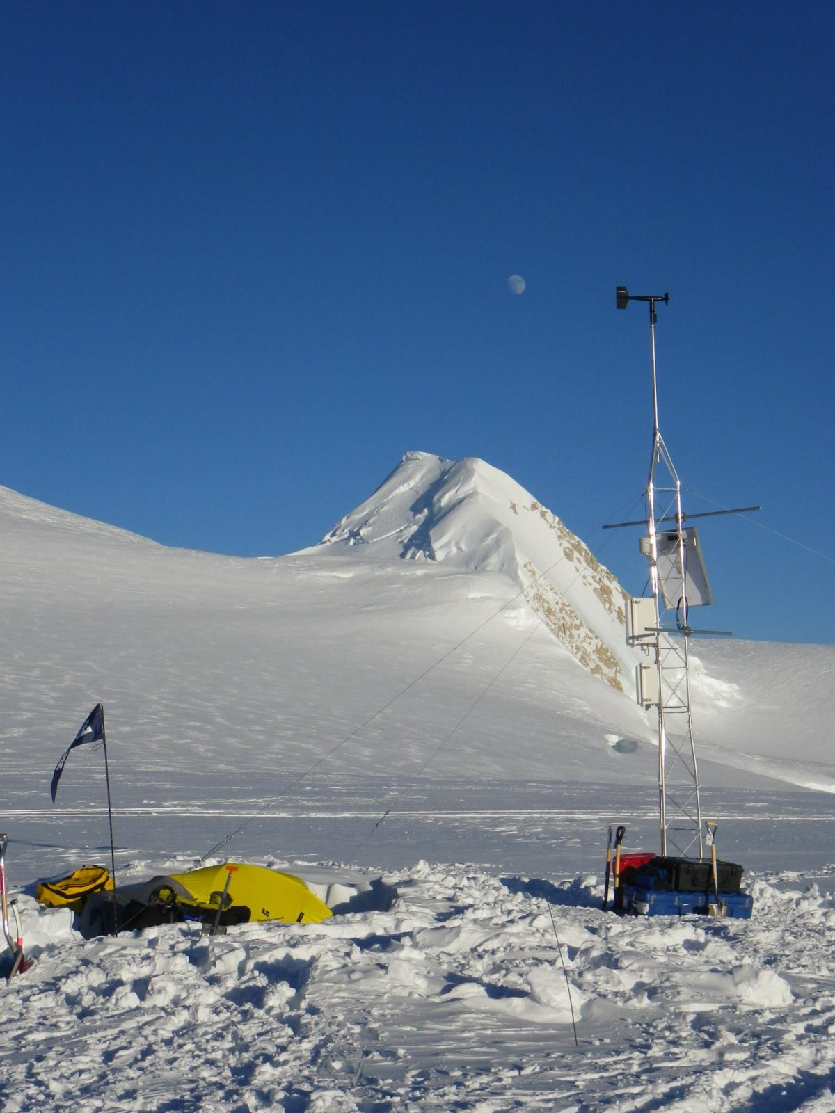 Meteorological station we installed on Mt. Hunter