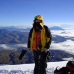 Me on Cotopaxi... Down jacket at the equator???