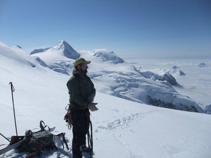 Upper West Ridge of Mount Hunter Alaska with the south Peak of Mt Hunter in the background... Denali National Park